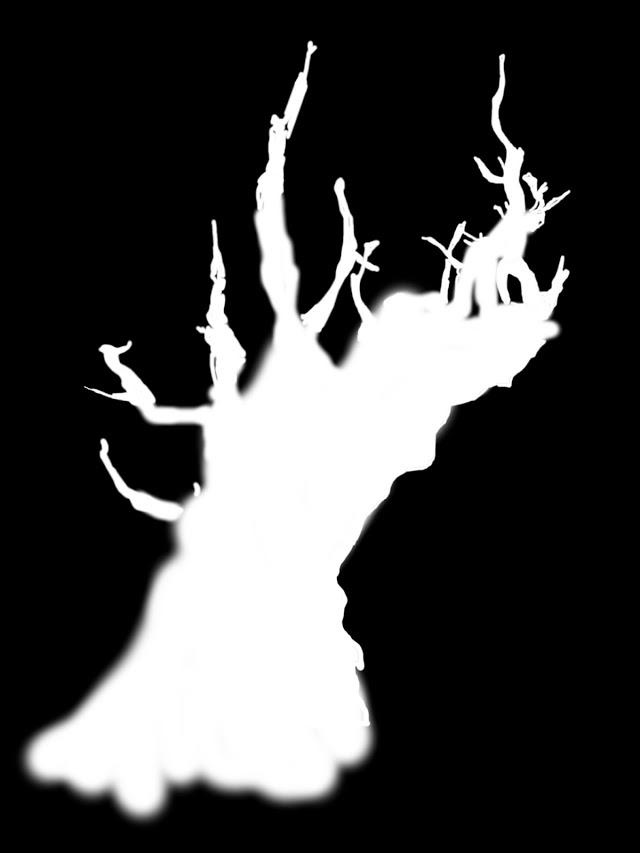 GIMP B&W Tree Layer Mask
