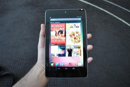 Google Nexus 7 in hand